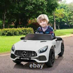 12V Kids Ride On Car Licensed Mercedes-AMG GT Electric Vehicle WithMP3 Remote New