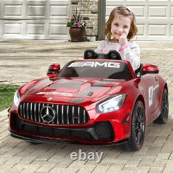 12V Licensed Kids Ride On Car Electric Vehicle withRemote Control Music Horn Red
