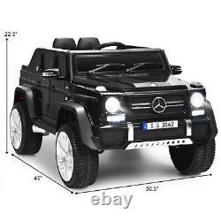 12V Licensed Mercedes-Benz Kids Ride On Car RC Motorized Vehicles withRemote Black