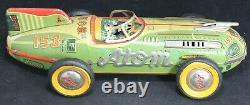 1950's Yonezawa Atom Friction Tin Car 16 Japan Vintage