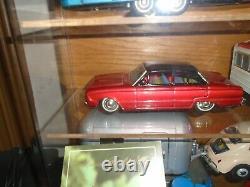 1960 Tin Ford Falcon Car & Trailer Bandai Factory Camper Set Vintage Japan