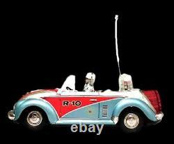 1960s NOMURA VW Beetle Space Patrol Car R-10 with Original Box SCARCE