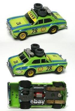 1981 Aurora AFX G-PLUS G+ #28 Rallye Ford Escort Slot Car #1737 V. RARE STENCILED