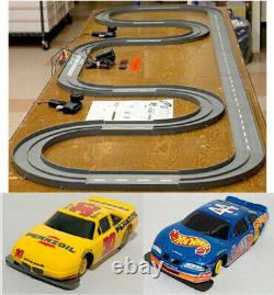 1993 UNUSED TYCO TCR Slotless Slot Car Total Control RACE SET 20ft + 3 Vehicles