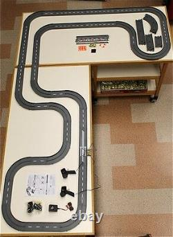 1993 UNUSED TYCO TCR Slotless Slot Car Total Control RACE SET 34ft + 6 Vehicles