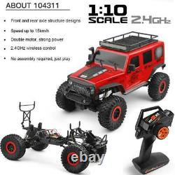 1/10 2.4Ghz RC Car 4×4 Electric Rock Crawler Toy with LED Light off-road Vehicle