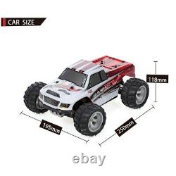 2.4G 1/18 RC Cars 4x4 4WD 43+MPH High Speed Electric Monster Vehicle Brushed