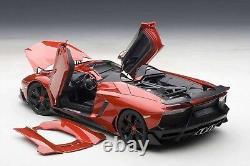 AUTOart Lamborghini Aventador J Metallic Red 1/18 Scale Die Cast Model F/S NEW