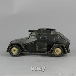 #Antique Tin Toy# 1938/1942 Tippco Armoured Car WH194 Wehrmacht Nazi Car Germany