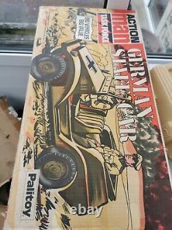 Boxed Vintage Action Man German Staff Car vehicle afrika Korps rare