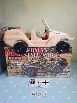 Boxed Vintage Action Man German Staff Car vehicle afrika Korps rare! Nice