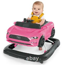Bright Starts Ford Mustang 3-in-1 Baby/Toddler Walker Toys/Car Push 6-12m Pink