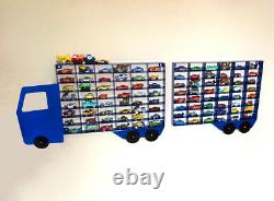 Children's Toy Car Wall Storage Box Display Unit Truck Lorry Fits 96 Vehicles