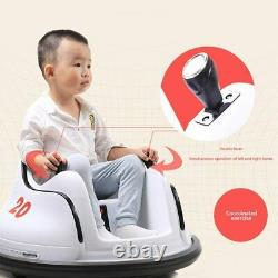 DIY Race 6V Kids Toy Electric Ride On Bumper Car Vehicle Remote Control 360 Spin