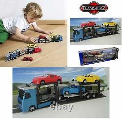Diecast Car Transporter Children Boys Kids Toy Diecast Car Vehicle Birthday Gift
