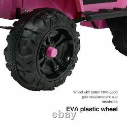 Electric Kids Ride On Off-Road Cars 12V Motorized Vehicles withRC Music Pink