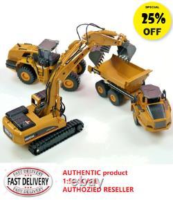 HUINA 150 Dump Truck Excavator Wheel Loader Die cast Model Construction Vehicle