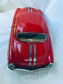 Ichiko Pontiac Sedan Car Tin Toy Friction Japan Rare