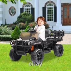 Kids Ride On Tractor with Trailer 12V Electric Toy Vehicle with Remote Control