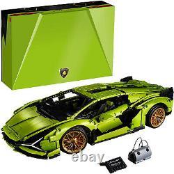 LEGO Technic Lamborghini Sian FKP 37 Model 3696 Piece Building Set, 18 Scale