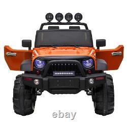 Large Kids Ride On Truck 12V Battery Electric Toddler Vehicles Toy Car Orange