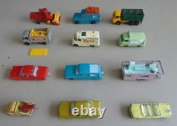 Lot of 72 Vintage Matchbox Lesney Diecast Toy Car Vehicles Many Old Rare Ones