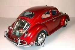 MINT C-10 Vintage Tin Car Bandai 1958 King Size Volkswagen 15 Sedan AMAZING
