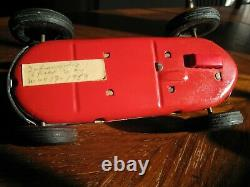 Mint Rare Vintage 1957 Yonezawa Tin Friction Toy, #3 Champion Race Car from Indy