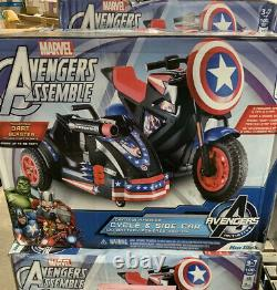 Motorcycle Ride On Vehicle Pretend Play Toy Kids Game 12 Volt Captain America