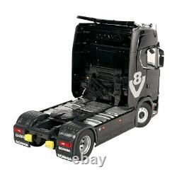 NZG Scania V8 730S 4x2 towing vehicle Black with acessories set 1/18 Scale New