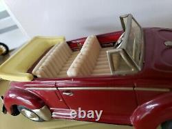 NomuraShowa Toys Japan Tin Lighted Friction Volkswagen Convertible Car 1960