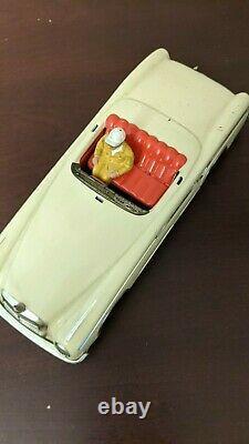 ORIGINAL Huki 1960s MERCEDES 220 SE Cabriolet Tin Litho Friction Car in Box RARE