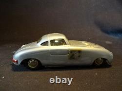 RARE Old Vtg DUX #21 Mercedes Tin Toy Car Silver Two-Door