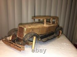 Rare Antique Kingsbury 345 Limousine Pressed Steel Wind Up Toy Car 1929