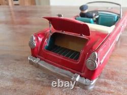 Rare BANDAI Japan Vintage Tin Car 1956 Ford Fairlane 500 Sunliner Convertible