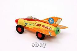 Rare Vintage Marusan Japan Fire Wings Tin Litho Jet Car with Original Box