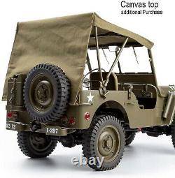 Rochobby 1/6 1941 MB Scaler Willys Jeep Remote Control Vehicle Ready Set RC Car