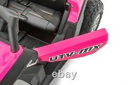 SUPERtrax 24V UTV Screemer Side x Side Ride On Vehicle, Battery Powered Pink