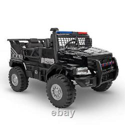 SWAT Truck Ride-On Toy 2-Seater Police Car Kid Patrol Vehicle Battery-Powered