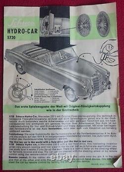 Schuco Hydro-Car Electro Mercedes 220S w Box, instructions & accessories 5720