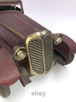 Tippco Distler Tin Sedan Windup Toy Car Antique Pre-War Pullman Sport Cord 19