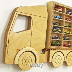 Toy car storage Hot Wheels Matchbox toy cars shelf PERSONALISED Boy's gift idea