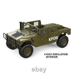 US Stock 1/10 P408 U. S. Military Vehicle Racing Car HG RC 44 2Speed ESC Motor