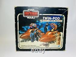 VHTF STAR WARS Vintage Boxed Twin-Pod Cloud Car El Imperio Contraataca Poch PBP