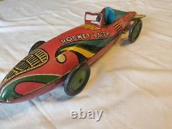VINTAGE MARX ROCKET RACER 16 LONG TIN WIND UP CAR nice collection piece. Clean