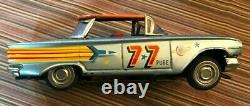 Very Rare 1958-62 Ichiko Friction Chevrolet Stock Car #77 Orange Roof Japan