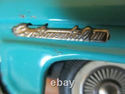 Vintage 11.5 Bandai Japan 1958 Lincoln Continental Mark 3 Tin Friction Toy Car
