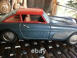 Vintage Antique tin toy car Ferrari Super America Bandai Japanese friction 11