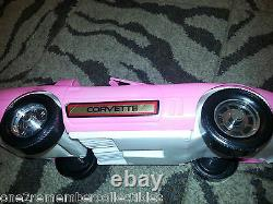 Vintage CHEVROLET CORVETTE Large Hot Pink BARBIE DREAM CAR Fashion Doll GAY TOYS