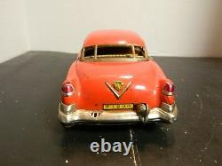 Vintage Kosuge Marusan Red Cadillac Friction Tin Car PT 28-373673 Very Good Cond